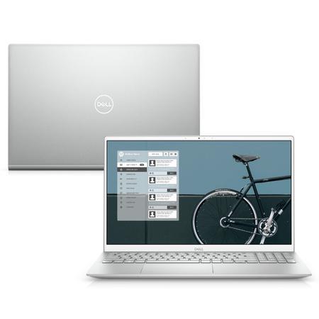 "Imagem de Notebook Ultrafino Dell Inspiron i5502-M10S 15.6"" Full HD 11ª Geração Intel Core i5 8GB 256GB SSD Windows 10 Prata"