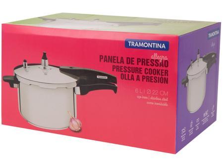 Imagem de Panela de Pressão Tramontina Inox 6L