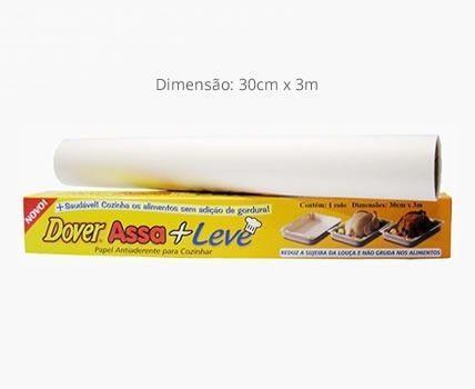 Imagem de Papel Dover Assa + Leve 30cm X 3m Kit 3 Rolos