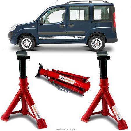 Imagem de Par Cavalete Fiat Doblo Adventure Automotivo 4 Toneladas Com 3 Regulagens e Trava