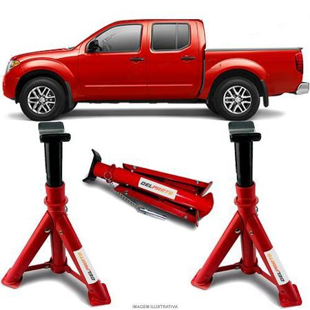 Imagem de Par Cavalete Nissan Frontier Cabine Dupla / Cabine Estendida / Cabine Simples Automotivo 4 Toneladas Com 3 Regulagens e Trava