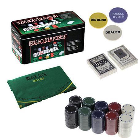 Imagem de Poker na lata com 200 fichas