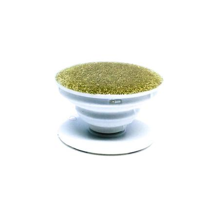Imagem de Pop Socket Dourado com Glitter Cola 3M