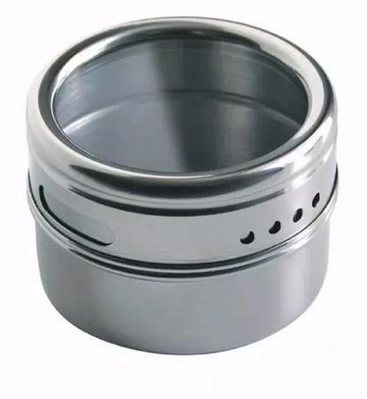 Imagem de Porta Condimento Magnético Aço 6 Peças Inox D0571 Dolce Home