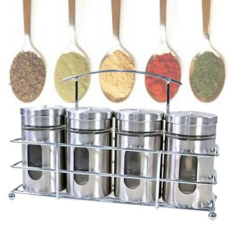 Imagem de Porta Condimento Tempero Sal Pimenta Especiarias Drinks