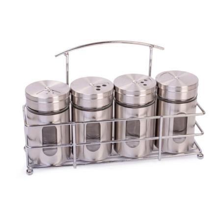 Imagem de Porta Condimentos Com Suporte de Metal Com 4 Recipientes - Top Chef
