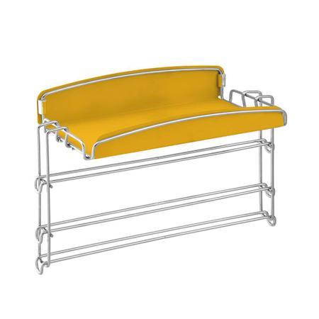 Imagem de Porta Condimentos e Rolos Aéreo 2488 Inox e Amarelo Masutti Copat