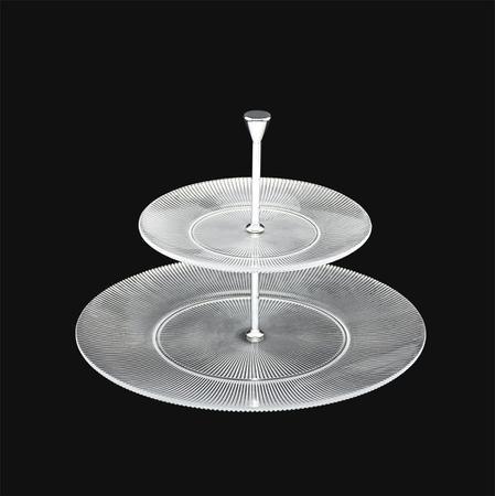 Imagem de Porta Doces Dois Andares de Vidro Transparante Grace 32/21 x 24cm