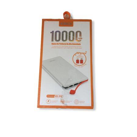 Imagem de Power Bank  Carregador Portátil  Branco 10.000 - Kaidi