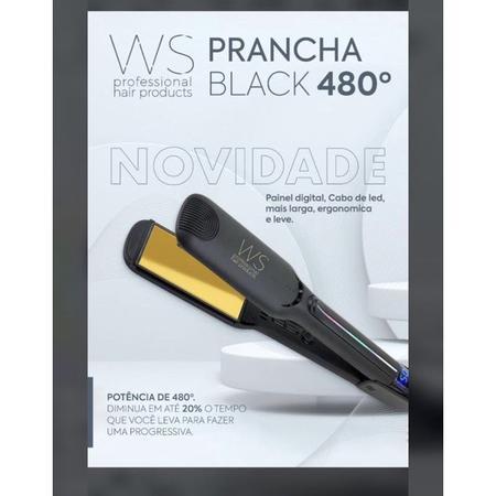 Imagem de Prancha Hair WS Black Profissional  480ºF - Alta Potência e Beleza Juntos