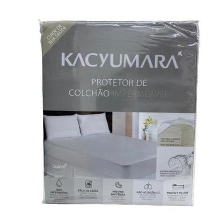 Imagem de Protetor de Colchão impermeável Queen Malha Antialérgico Kacyumara Capa Protetora