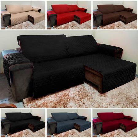 Imagem de Protetor De Sofá Retrátil E Reclinável para Assento de 1,50m