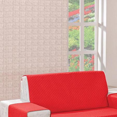 Imagem de Protetor para Sofá 2 Lugares Dupla Face Vermelho/Avelã