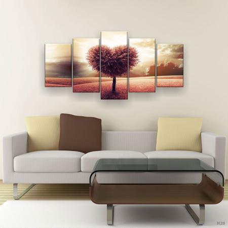 Imagem de Quadro Decorativo Arvore de Coração 129x61 5pc Sala