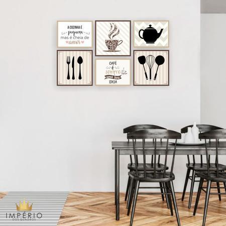 Imagem de Quadro Decorativo Cozinha Composição 64x37 6pc