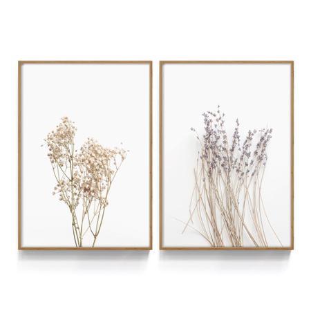 Imagem de Quadro Decorativo Flores Floral Moderno Para Sala Quarto Minimalista Florido Escritório Loja