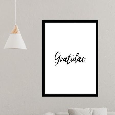 Imagem de Quadro Decorativo Gratidão Quarto Sala Escritório A4