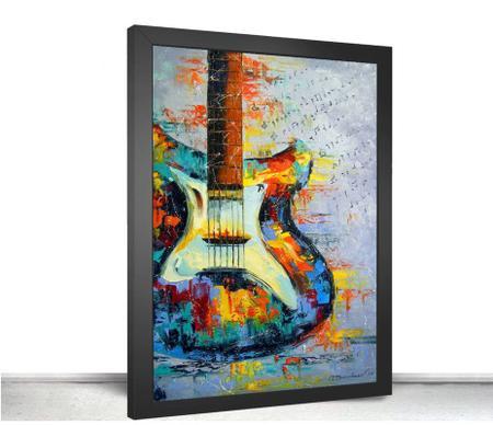 Imagem de Quadro Decorativo Poste Guitarra Psicodelica Classico
