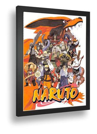 Imagem de Quadro emoldurado Poster Anime Naruto Personagems