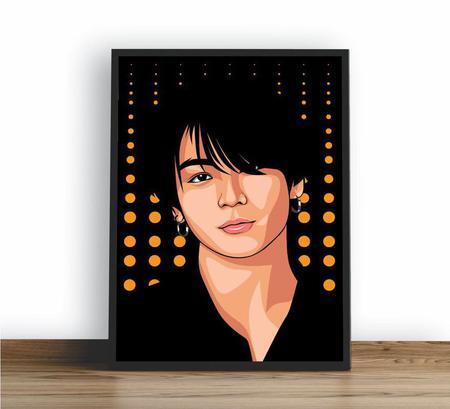 Imagem de Quadro emoldurado Poster Jungkook Bts Kpop