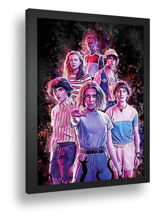 Imagem de Quadro Emoldurado Poster Stranger Things Seriado Arte 2020