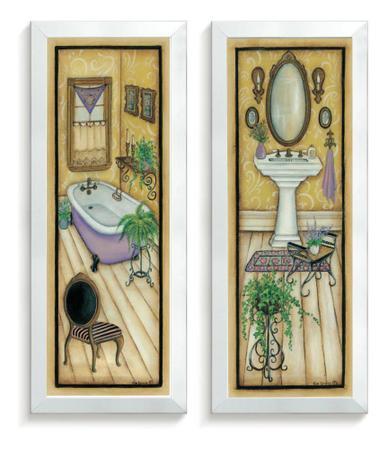 Imagem de Quadros Decorativo Kit Banheiro Kit Quarto Casa Vintage