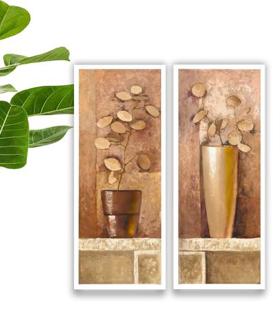 Imagem de Quadros Decorativo Kit Banheiro Lavabo Kit Quarto Vintage 45