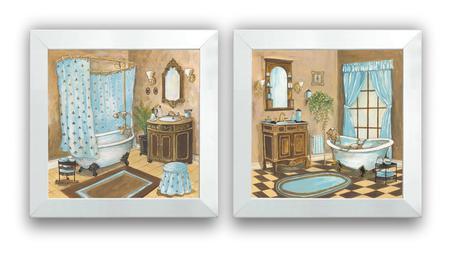 Imagem de Quadros Decorativo Kit Sala Banheiro Vintage Quadrinho