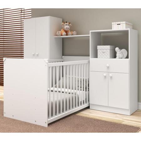 Imagem de Quarto de Bebê Completo com Berço Guarda-roupa e Cômoda Multimóveis 2869.010