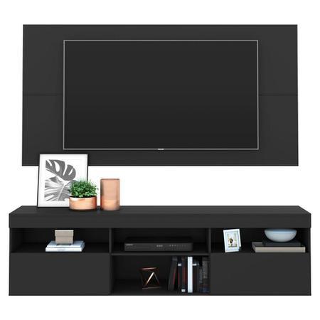 """Imagem de Rack com Painel para TV até 65"""" Flórida Multimóveis  Preto"""