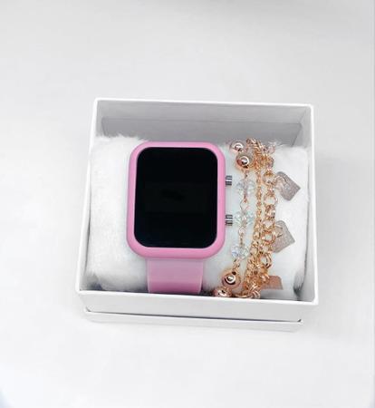 Imagem de Relógio Feminino Digital Led + pulseiras