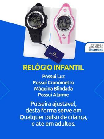 Imagem de Relógio Infantil Menina Esportivo Digital Kit 2 Peças Barato