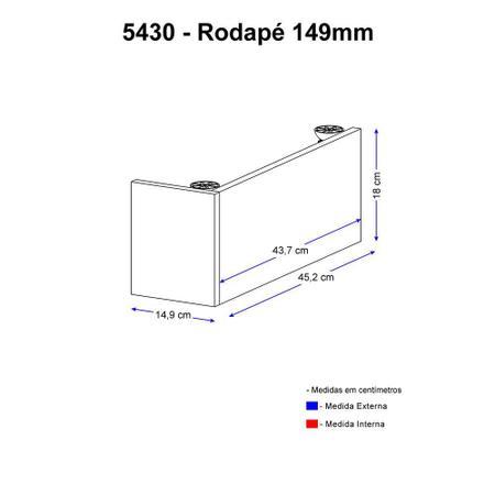 Imagem de Rodapé Multimóveis Calábria 15cm 5430 Nogueira