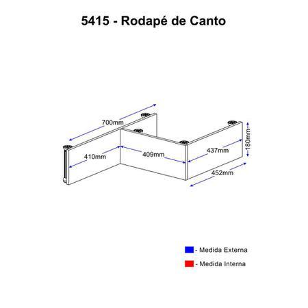 Imagem de Rodapé Multimóveis Calábria para balcão de canto 5415 Nogueira