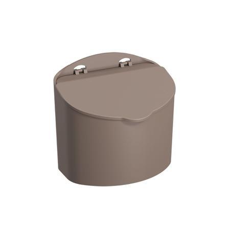 Imagem de Saleiro 500g em polipropileno 13,5 cm cinza mix coza 10843/0126
