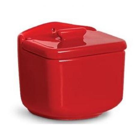 Imagem de Saleiro de Parede Scalla Standard 12x14,5x11cm vermelho
