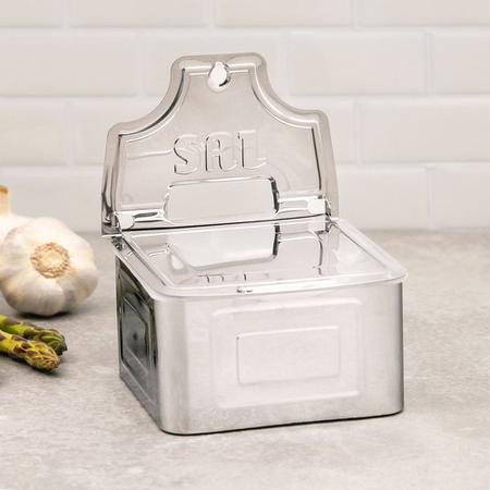 Imagem de Saleiro em aço inox com caixa protetora interna makinox