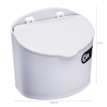 Imagem de Saleiro Plástico Com Tampa Cozinha 500G Coza Cozinha Parede Branco
