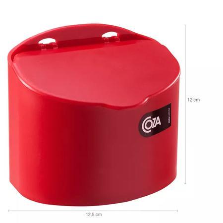 Imagem de Saleiro Plástico Com Tampa Cozinha 500G Coza Cozinha Parede Vermelho