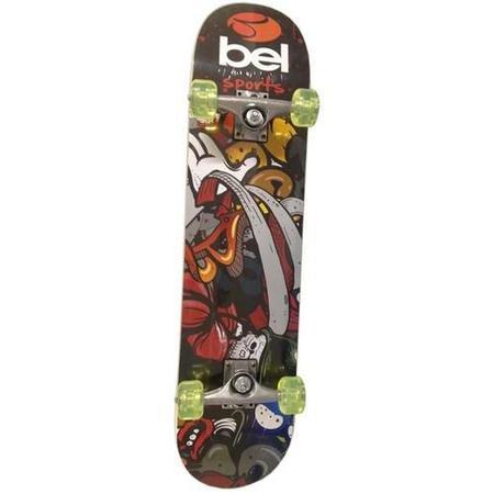 Imagem de Skateboard Semi-Profissional Estampado  Roda Pu