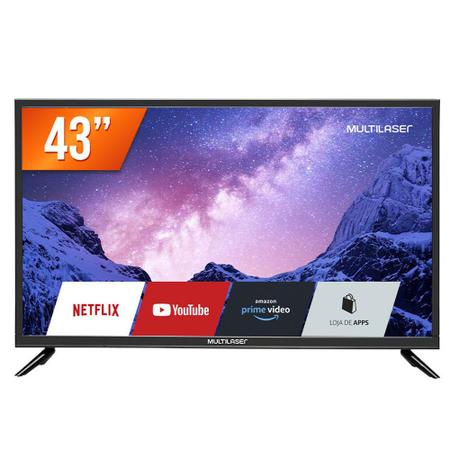 "Imagem de Smart TV 43"" Full HD Multilaser TL024 Wi-Fi 3 HDMI 2 USB Bivolt"