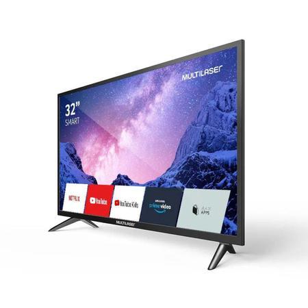 Imagem de Smart TV Multilaser 32 HD LCD Wi-Fi USB HDMI Com conversor Digital - TL031