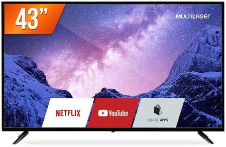 """Imagem de Smart TV Multilaser LED 43"""" Full HD Wi-Fi Integrado Linux HDMI TL027"""