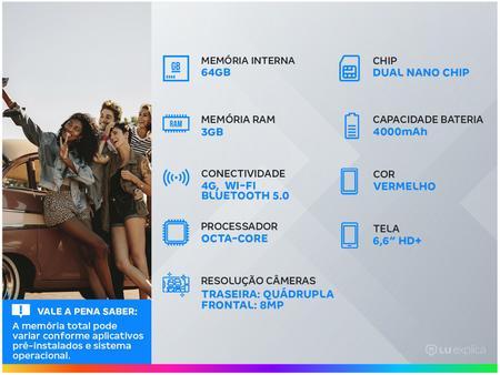 Imagem de Smartphone LG K52 64GB Vermelho 4G Octa-Core