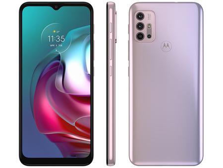 Imagem de Smartphone Motorola Moto G30 128GB White Lilac 4G