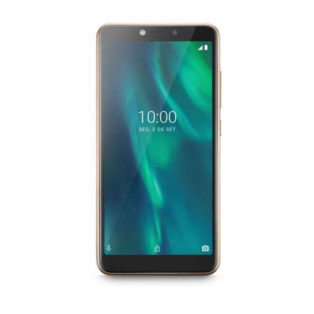 """Imagem de Smartphone Multilaser F P9131 32GB Dual Chip Tela 5.5"""" Câmera 5MP Frontal 5MP Android 9 Dourado"""