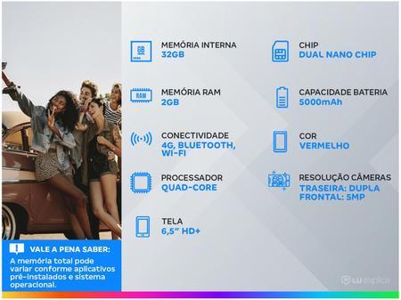 Imagem de Smartphone Samsung Galaxy A02 32GB Vermelho 4G