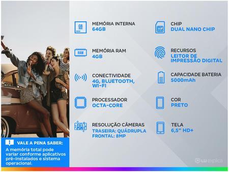 Imagem de Smartphone Samsung Galaxy A12 64GB Preto 4G