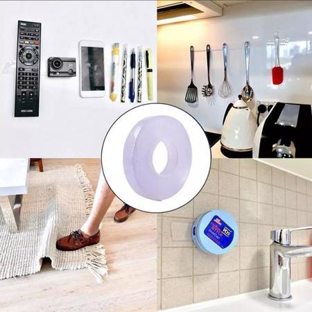 Imagem de Super Fita Adesiva Fixa Quadros Objetos Tapetes Reutilizavel