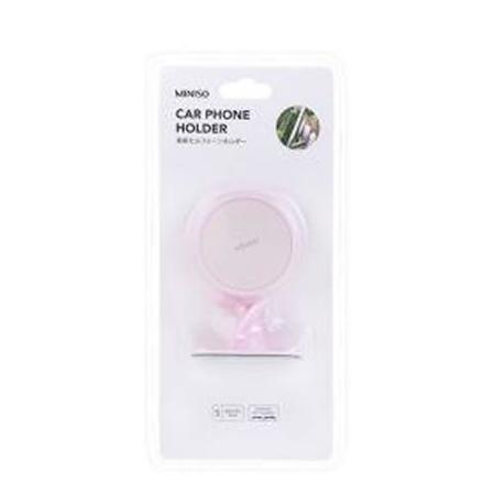 Imagem de Suporte de celular Magnético para carro. Cor rosa. Composição: ABS, imã, ferro inoxidável.